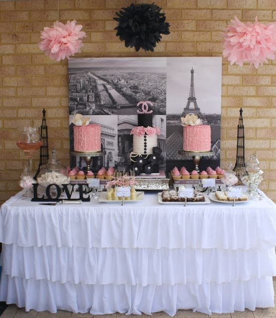 Paris themed sweet 16 party