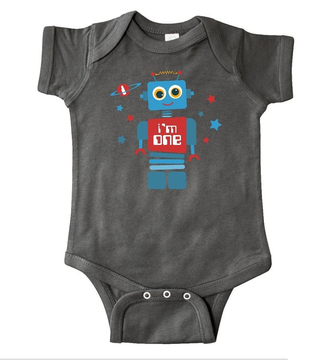 robot first birthday outfit