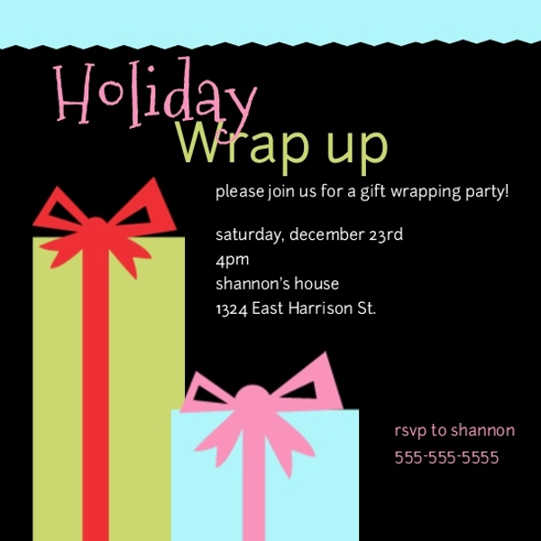 gift wrapping party invitations