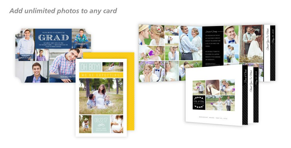 Add Unlimited Photos To Your Card