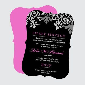 Cheap Sweet 16 Birthday Invitations
