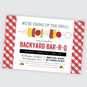 Cheap BBQ Party Invitations
