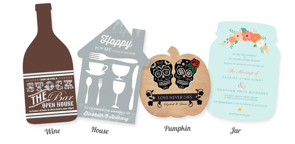 Create one-of-a-kind designs with Bottle, House, Pumpkin and Mason Jar trim options